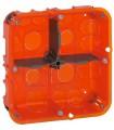 Boite d'encastrement Multi-matériaux 2*2 poste Batibox Prof 50 mm.