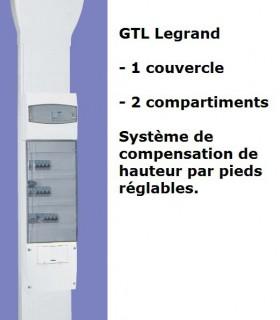 GTL Legrand complète, 2 Compart. Goulotte technique Logement