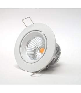 Kit spot LED non variable 8 W Basculant, blanc, 625 lm.