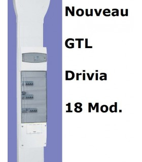 GTL Legrand 18 mod, 2 compartiments