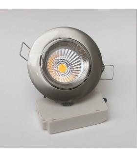 Kit spot LED 7 W Basculant Inox.