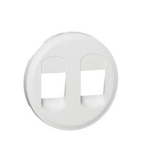 Enjoliveur Blanc PRISE HP DOUBLE