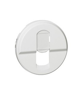 Enjoliveur Blanc prise RJ 45 simple