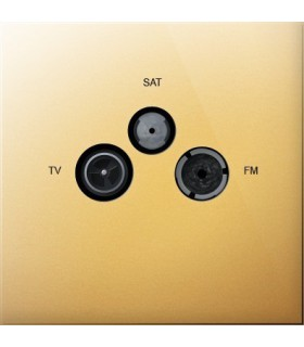 Prise TV/FM/SAT Art Epure Or Miroir