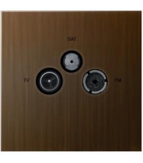 Prise TV/FM/SAT Art Epure Bronze