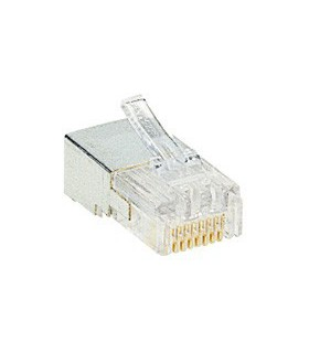 Fiche RJ 45 à sertir. 8 contacts Cat 5e.