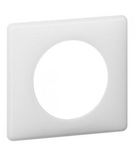 Plaque Céliane Poudré, 1 poste, finition: Blanc