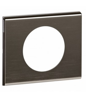 Plaque Céliane Alliage, 1 poste, finition: Black Nickel