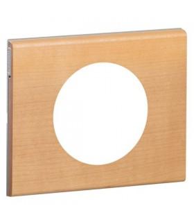 Plaque Céliane 1 poste, finition: Bois Erable