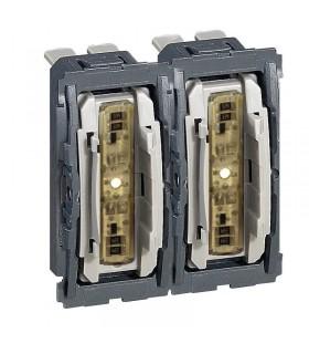 Double interrupteur à voyant lumineux