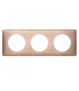 Plaque Céliane Métal 3 postes, finition: Copper, entraxe 71 mm.