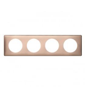 Plaque Céliane Métal 4 postes, finition: Copper, entraxe 71 mm.