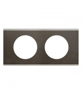 Plaque Céliane Black Nickel, 2 postes