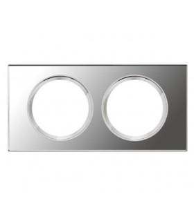 Plaque Verre Miroir 2 postes
