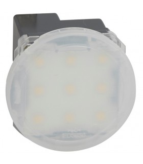 Spot Led balisage avec Enjoliveur Opalescent Blanc
