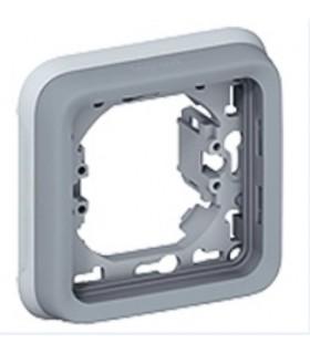 Support plaque Plexo 1 poste Gris à compléter