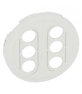 Enjoliveur Blanc pour double prise RCA YUV