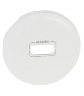 Enjoliveur Blanc pour prise HDMI