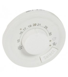 Enjoliveur Blanc thermostat d'ambiance