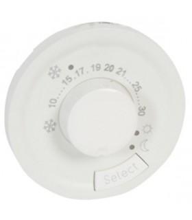 Enjoliveur Blanc thermostat fil pilote ou CPL