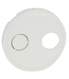 Enjoliveur Blanc pour prise réseau cablé (simple ou double)