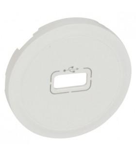 Enjoliveur Blanc Céliane pour prise USB