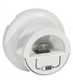 Enjoliveur Blanc version Dock pour prise chargeur USB