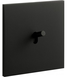 Bouton poussoir Art Epure Noir Mat