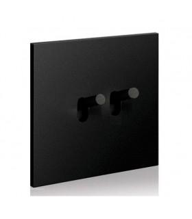 Double poussoir Art Epure Noir Mat