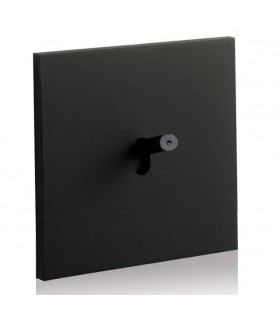 Bouton poussoir lumineux Art Epure Noir Mat