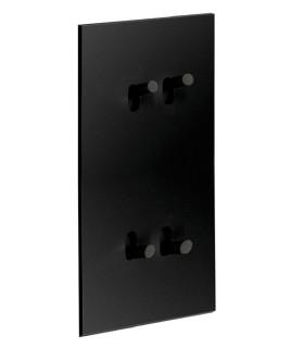 Quadruple Interrupteur Art Epure Noir MAT - 2 postes