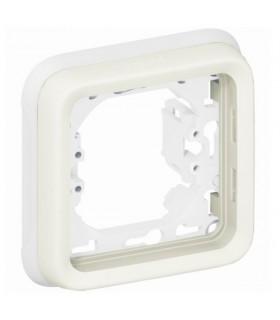 Support plaque Plexo 1 poste Blanc à compléter