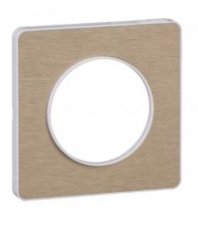 Plaque 1 poste Odace Touch Bronze Brossé