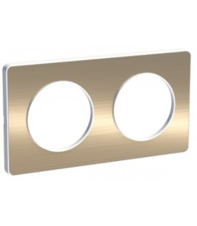 Plaque 2 postes Odace Touch Bronze Brossé