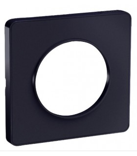 Plaque 1 poste Odace Touch Anthracite