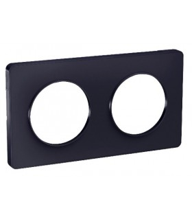 Plaque 2 postes Odace Touch Anthracite