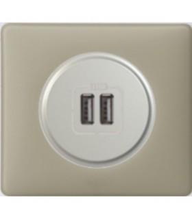 Prise chargeur USB Céliane, finition: Argile