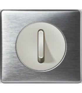 Interrupteur va et vient doigt étroit Céliane Aluminium