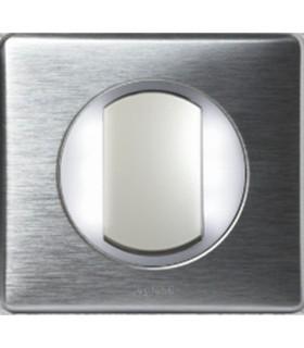 Va et Vient à couronne lumineuse Témoin ou lumineux Aluminium
