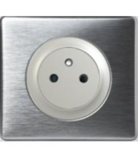 Prise Céliane Anodisé Aluminium, affleurante