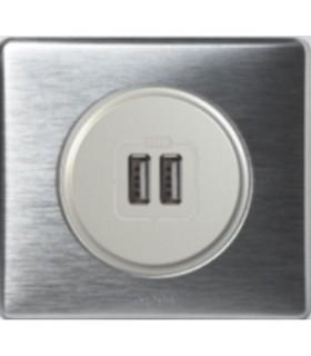 Chargeur USB Céliane double, Aluminium