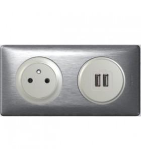 Promotion Chargeur USB + PC précâblé Aluminium
