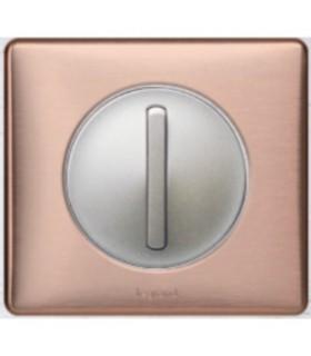 Interrupteur va et vient doigt étroit Céliane Copper