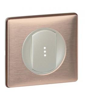 Poussoir à voyant lumineux Céliane Copper