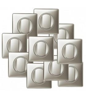Lot de 10 Interrupteurs Céliane Titane (ou Va et vient) complets