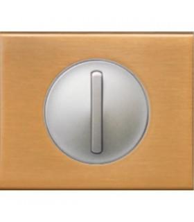 Interrupteur va et vient doigt étroit Céliane Bronze doré