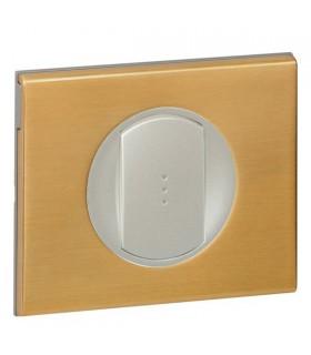 Interrupteur Va et Vient à Voyant lumineux Céliane Bronze doré