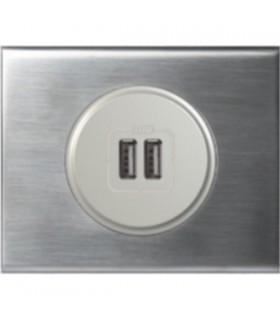 Chargeur USB Legrand Céliane: Inox Brossé