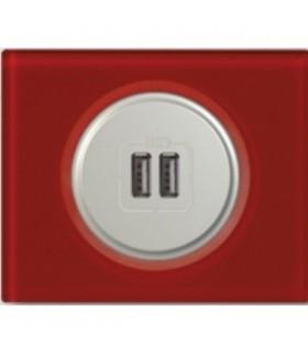 Chargeur USB Legrand Céliane: Verre Carmin