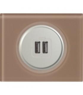 Chargeur USB Legrand Céliane: Verre Moka